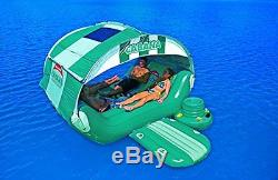 Pool Float Lounge Large Inflatable Beach Water Loungers Sunshade Swimming Island