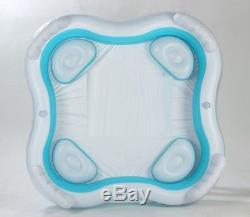 Pool Inflatable Swimming Family Square Inflatable Water Pool With Seats Backres