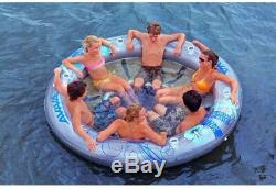 Pool/Lake Lounge 96 in. X 96 in. X 12 in. 6-Person PVC Inflatable Clear Finish