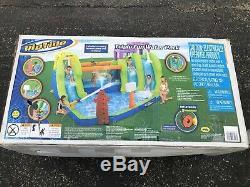 RipTide Triple Fun Inflatable PVC Water Park with 3 Slides & Obstacle Course! New