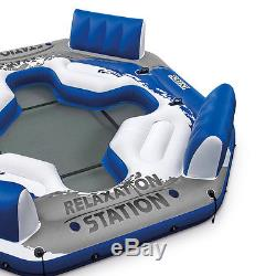 River Raft Inflatable Floating Lake Pool Party Island Lounger Cup Drink Holders