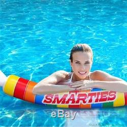 Smarties Roll Inflatable Swimming Pool Noodle Float Big Mouth Toys OVER 5 FT