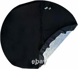 Spa2Go, EZ Spa Replacement Inflatable Tub or Wading Pool with Black Vinyl, Plugs