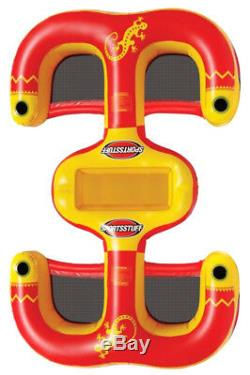 Sportsstuff Cantina Lounger 4-Person Inflatable Pool Beach Lake Raft (2 Pack)