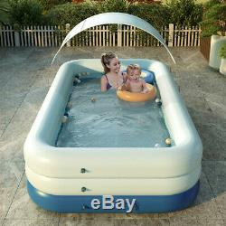Summer Sunshade Wireless Auto Inflatable Swimming Pool for Family Kids Adults