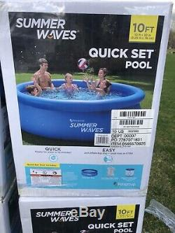 Summer Waves 10' x 30 Quick Set Inflatable Above Ground Swimming Pool with Pump