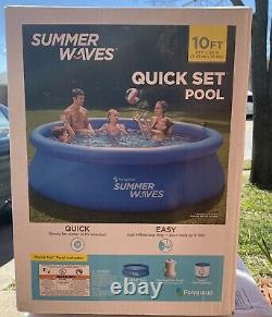 Summer Waves 10'x30 Quick Set Inflatable Above Ground Pool with Filter Pump