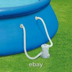 Summer Waves 10ft X 30in Inflatable Quick Set Ring Pool With 600 GPH Filter Pump