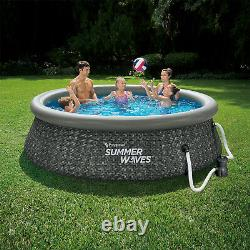 Summer Waves 10ft x 2.5ft Above Ground Inflatable Pool with Pump (Open Box)
