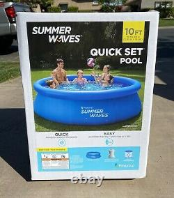 Summer Waves 10ft x 30in Inflatable Quick Set Pool With Filter Pump FAST SHIP