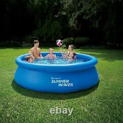 Summer Waves 10ft x 30in Inflatable Ring Quick Set Pool With Filter Pump NEW