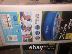 Summer Waves 10ft x 30in Inflatable Ring Quick Set Pool WithFilter Pump & Filter