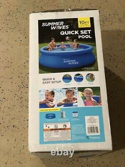 Summer Waves 10ft x 30in Quick Set Inflatable Pool with Filter Pump FREE SHIP