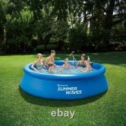 Summer Waves 12 ft Quick Set Ring Round Above Ground Swimming Pool