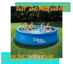 Summer Waves 12' x 30 Quick Set Above Ground Inflatable Swimming Pool IN HAND
