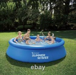 Summer Waves 12ft x 30 in Quick Set Inflatable Above Ground Swimming Pool Intex