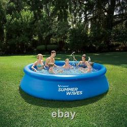 Summer Waves 12ft x 30in Quick Set Inflate Round Swimming Pool with Filter Pump