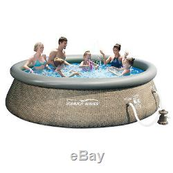 Summer Waves 12ft x 36in Above Ground Inflatable Outdoor Swimming Pool with Pump