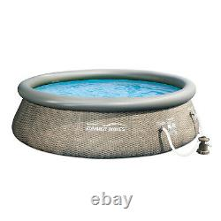Summer Waves 12ft x 36in Above Ground Inflatable Swimming Pool, Pump (Open Box)