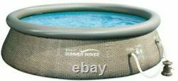 Summer Waves 12ft x 36in Above Ground Inflatable Swimming Pool with Pump Filter