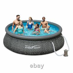 Summer Waves 12ft x 36in Quick Set Inflatable Round Pool with Pump (Used)