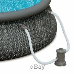 Summer Waves 12ft x 36in Quick Set Inflatable Round Swimming Pool with Pump