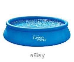 Summer Waves 14ft x 36in Inflatable Ring Quick Set Swimming Pool with Filter& Pump