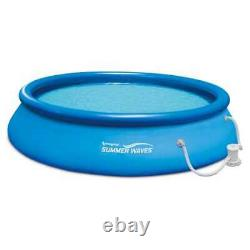 Summer Waves 15 Ft. Quick Set Inflatable Above Ground Pool with Pump (Open Box)