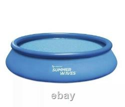 Summer Waves 15 ft x 36 in Quick Set Inflatable Swimming Pool with Filter Pump