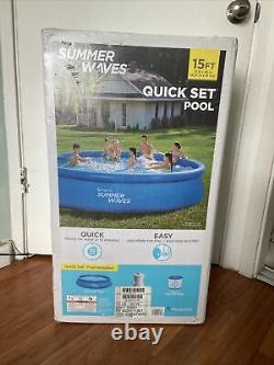 Summer Waves 15 ft x 36in Inflatable Swimming Pool & Pump FREE USPS 1 DAY SHIP