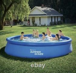 Summer Waves 15 x 36 Quick Set Inflatable Above Ground Swimming Pool & Pump