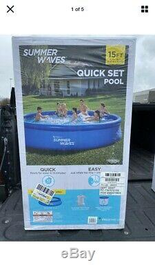 Summer Waves 15ft x 36in Quick Set Inflatable Above Ground Pool