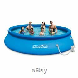 Summer Waves 15ft x 36in Quick Set Inflatable Above Ground Pool with Filter Pump