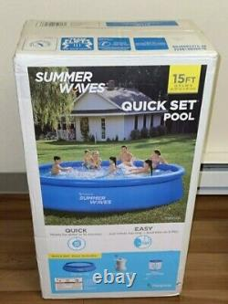Summer Waves 15ft x 36in Quick Set Inflatable Pool with pump, IN HAND ShipsSameDay
