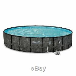 Summer Waves 22 Ft Above Ground Pool Set with Giant Donut Inflatable Raft (2 Pack)