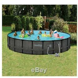 Summer Waves 22' x 52 Above Ground Frame Pool Set with Pump + 3 Inflatable Rafts