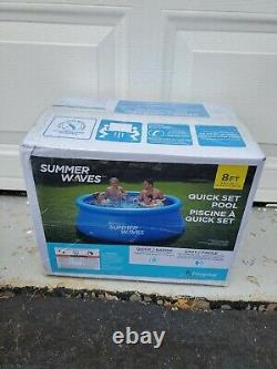 Summer Waves 8' x 30 Quick Set Above Ground Inflatable Swimming Pool IN HAND
