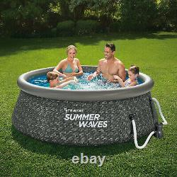 Summer Waves 8ft x 2.5ft Above Ground Inflatable Pool with Pump (Open Box)