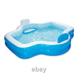 Summer Waves Inflatable Elegant Family Pool with 2 Built In Cushioned Seats