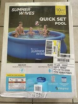 Summer Waves Swimming Pool 10ft x 30in Quick Set Pool With Filter Pump SHIPS NOW