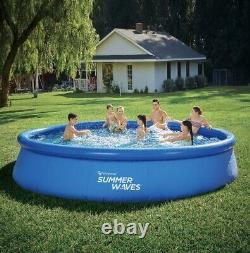 Summer Waves15FT x 36IN Quick Set Inflatable Above Ground Swimming Pool & Pump