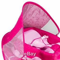SwimWays Inflatable Infant Baby Swimming Pool Float with Canopy, Pink (2 Pack)