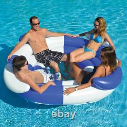 Swimline 78 Swimming Pool 4 Person Sofa Island Lounger Inflatable Float