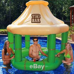 Swimline 90245 Swimming Pool Inflatable TIKI BAR withIce Coolers