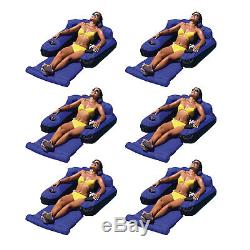 Swimline Swimming Pool Fabric Inflatable Ultimate Float Lounger Chair (6 Pack)