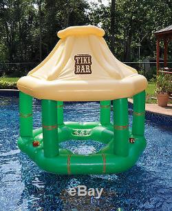 Swimline Swimming Pool Inflatables Party Pack Swan Float + Pizza Raft + Tiki Bar