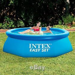 Swimming Pool 8' x 30 Quick Set Round Above Ground Inflatable Portable HeavyD