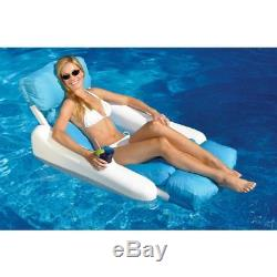 Swimming Pool Floating Lounge Chair Seat Inflatable Cushion Swimline Sunsoft New