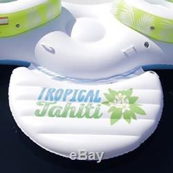 Tropical Tahiti Floating Island Inflatable Raft 6 Person POOL LAKE PARTY FLOAT
