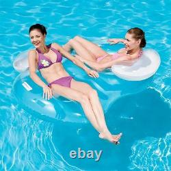 Two Person Double 74x46 Swimming Pool Inflatable Ring Lounger Chair